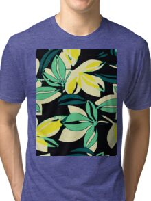 Leaf and Flowers Tri-blend T-Shirt
