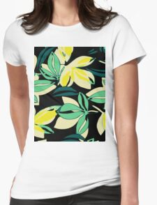 Leaf and Flowers Womens Fitted T-Shirt