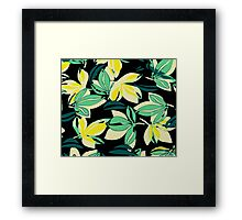 Leaf and Flowers Framed Print