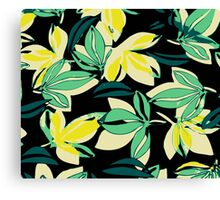Leaf and Flowers Canvas Print
