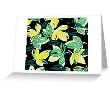 Leaf and Flowers Greeting Card