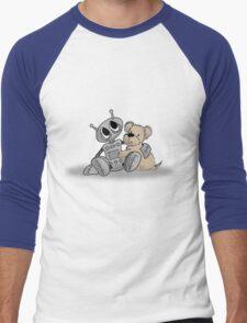 Robot's Best Friend Men's Baseball ¾ T-Shirt