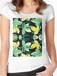Leaf and Flowers Women's Fitted Scoop T-Shirt