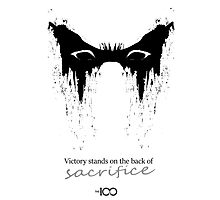 Victory stands on the back of sacrifice ver.2 Photographic Print