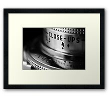 close ups Framed Print