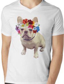 I Love Frenchies Mens V-Neck T-Shirt