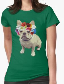 I Love Frenchies Womens Fitted T-Shirt