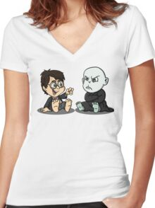 """""""I got your nose""""  Women's Fitted V-Neck T-Shirt"""