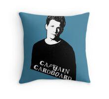 RILEY FINN: Captain Cardboard Throw Pillow