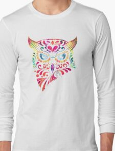 COLORFUL CANDY OWL Long Sleeve T-Shirt