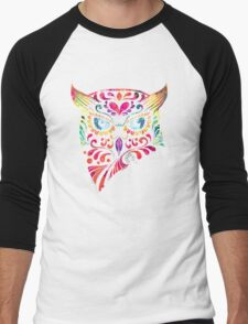 COLORFUL CANDY OWL Men's Baseball ¾ T-Shirt