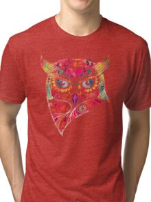 COLORFUL CANDY OWL Tri-blend T-Shirt