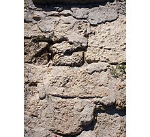 The stones from the limestone on the beach Photographic Print