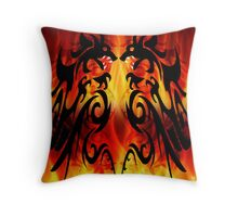 DRAGONS FIGHTING Throw Pillow