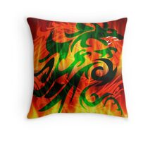 DRAGON IN FLAME Throw Pillow