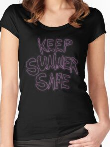 Rick & Morty-KEEP SUMMER SAFE Women's Fitted Scoop T-Shirt