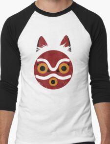 Mononoke Mask Men's Baseball ¾ T-Shirt