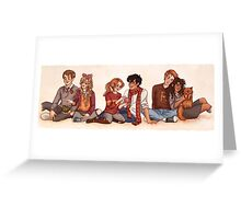 The Golden and the Silver Trio Greeting Card