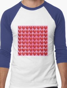 HEARTS SMALLER Men's Baseball ¾ T-Shirt