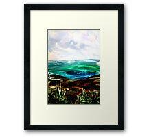 Ironed landscape Framed Print