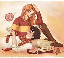 Harry, Ginny and Arnold by susannesart