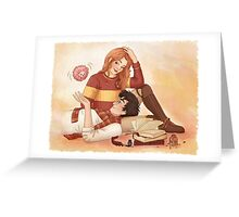 Harry, Ginny and Arnold Greeting Card