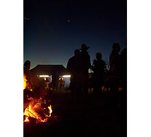 Hard Day done, Burra Cattle Drive Photographic Print