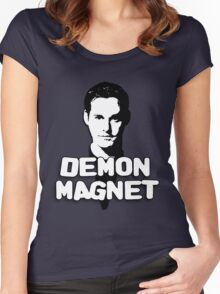 XANDER HARRIS: Demon Magnet Women's Fitted Scoop T-Shirt