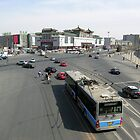 Tiantan East Road, Beijing, China by Philip Mitchell