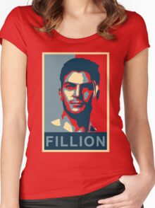 FILLION Women's Fitted Scoop T-Shirt