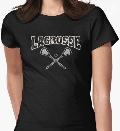 Lacrosse Dark Womens Fitted T-Shirt
