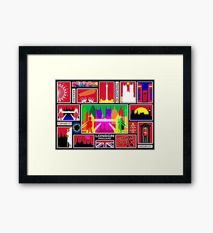 LONDON ENGLAND Framed Print