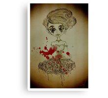Nightmare Harlequin Lolita Doll Canvas Print