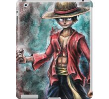 The King of Pirates a Tra-Digital Portrait of Luffy iPad Case/Skin