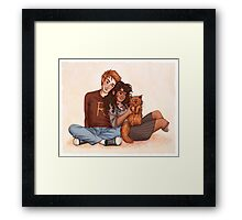 Ron and Hermione Framed Print