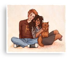Ron and Hermione Canvas Print
