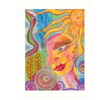 The Love-Light in The Crops Art Print