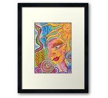 The Love-Light in The Crops Framed Print