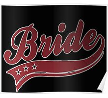 Bride red-white Poster