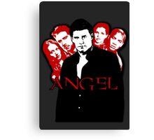 Angel Investigations: Black & Red Canvas Print
