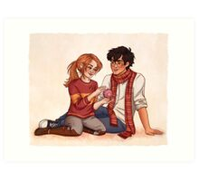 Harry and Ginny Art Print