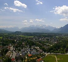South from Hohensalzburg by Susan Dailey