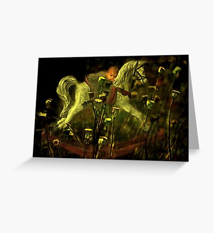 """""""Rocking My Baby to Dream Land ..."""" Greeting Card"""