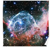 Thor's Helmet Nebula [Red and Blue] Poster