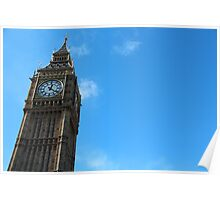 Blue Skies Over Elizabeth Tower Poster