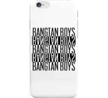 BTS/Bangtan Boys B&W iPhone Case/Skin
