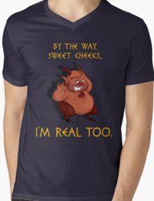 I'm Real Too Mens V-Neck T-Shirt