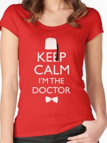 Keep Calm I'm The Doctor Women's Fitted Scoop T-Shirt