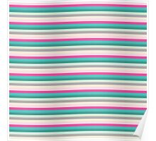 Abstract Colorful Stripes Pattern Poster