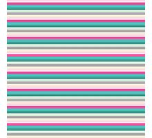 Abstract Colorful Stripes Pattern Photographic Print